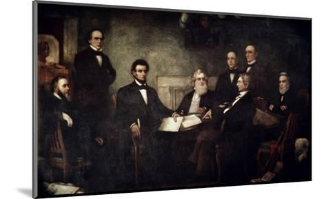 The First Reading of the Emancipation Proclamation-Francis Bicknell Carpenter-Mounted Giclee Print