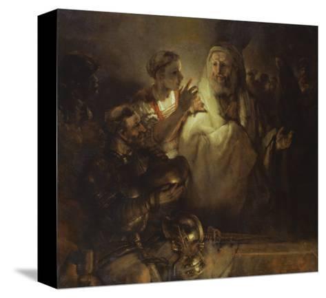 Denial of St. Peter-Rembrandt van Rijn-Stretched Canvas Print