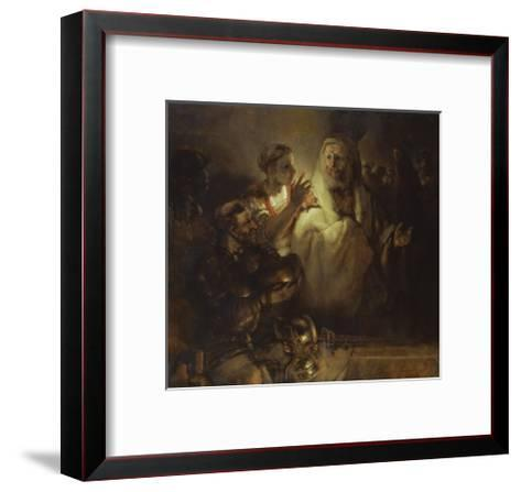 Denial of St. Peter-Rembrandt van Rijn-Framed Art Print