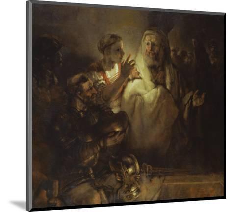 Denial of St. Peter-Rembrandt van Rijn-Mounted Giclee Print