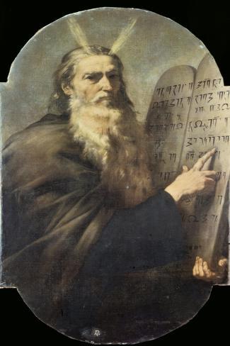 Moses-Jusepe de Ribera-Stretched Canvas Print