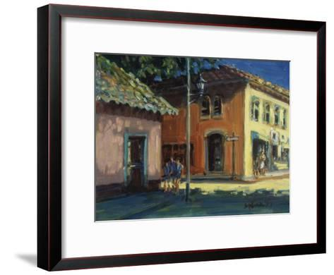 Puerto Vallarta Street Scene-Patti Mollica-Framed Art Print