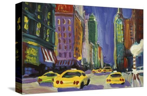 Racing Taxis, New York City-Patti Mollica-Stretched Canvas Print
