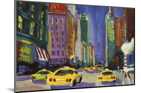 Racing Taxis, New York City-Patti Mollica-Mounted Giclee Print