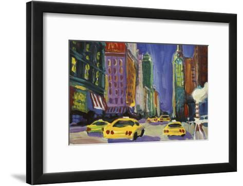 Racing Taxis, New York City-Patti Mollica-Framed Art Print
