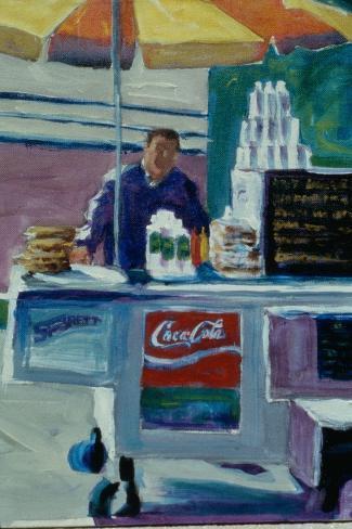 Pretzel Vendor-Patti Mollica-Stretched Canvas Print