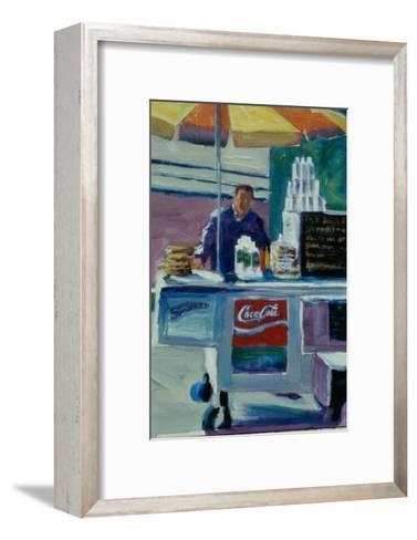 Pretzel Vendor-Patti Mollica-Framed Art Print