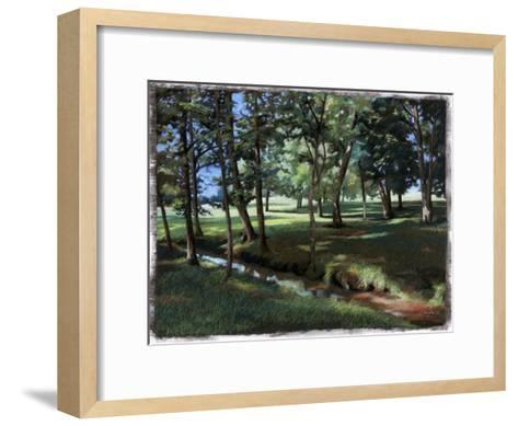 Shady Spot at the Botanical Gardens-Helen J^ Vaughn-Framed Art Print