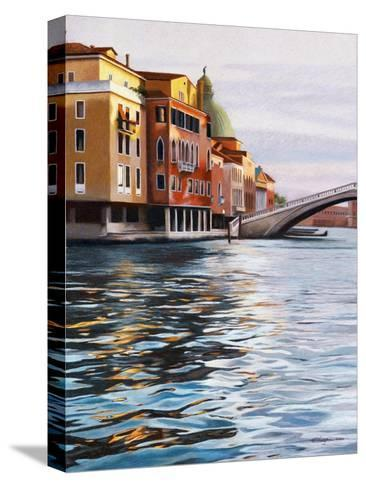 A Canal in Venice-Helen J^ Vaughn-Stretched Canvas Print