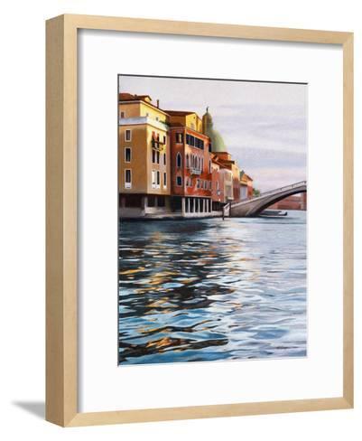 A Canal in Venice-Helen J^ Vaughn-Framed Art Print