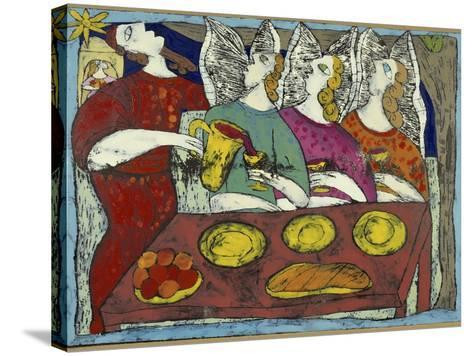 The Hospitality of Abraham-Leslie Xuereb-Stretched Canvas Print