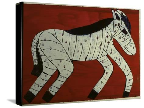 Zebra-Leslie Xuereb-Stretched Canvas Print