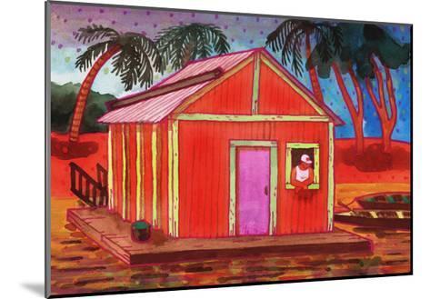 Amazon River Houseboat-John Newcomb-Mounted Giclee Print