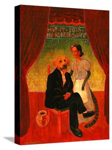 Diego and Frida-John Newcomb-Stretched Canvas Print