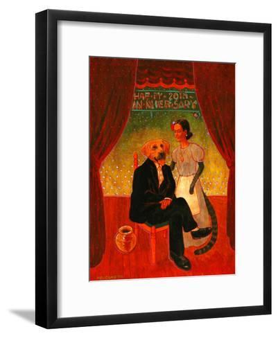 Diego and Frida-John Newcomb-Framed Art Print