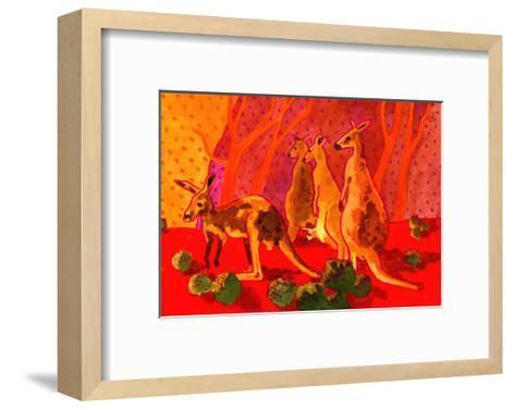 Roo Herd-John Newcomb-Framed Art Print