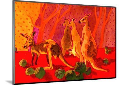 Roo Herd-John Newcomb-Mounted Giclee Print