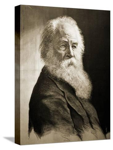 Walt Whitman-Moritz Klinkicht-Stretched Canvas Print