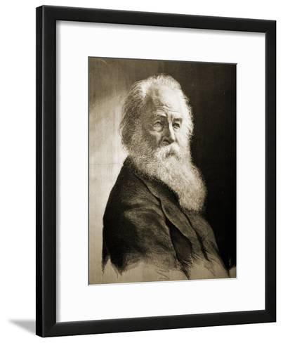 Walt Whitman-Moritz Klinkicht-Framed Art Print