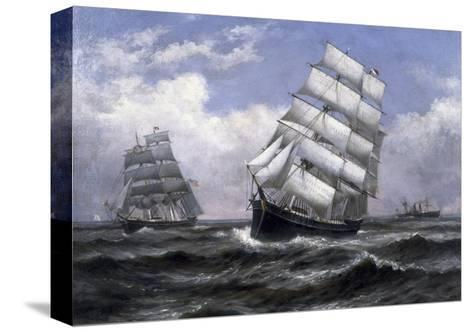 Tall Ships-Xanthus Russell Smith-Stretched Canvas Print