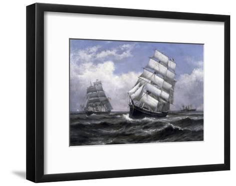 Tall Ships-Xanthus Russell Smith-Framed Art Print