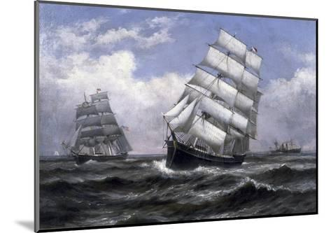 Tall Ships-Xanthus Russell Smith-Mounted Giclee Print