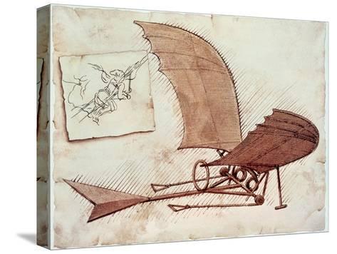 Flying Machine-Leonardo da Vinci-Stretched Canvas Print