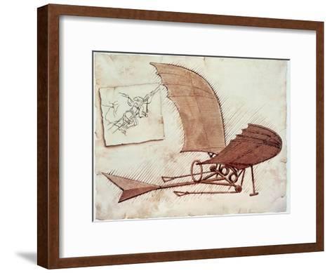Flying Machine-Leonardo da Vinci-Framed Art Print