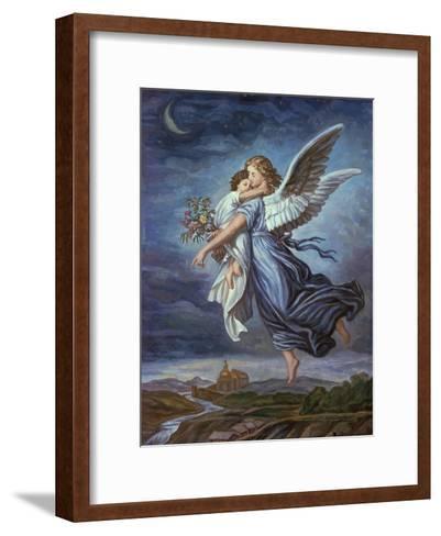 The Guardian Angel-Wilhelm Von Kaulbach-Framed Art Print