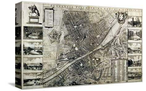 Map of the City of Florence-Wenceslaus Hollar-Stretched Canvas Print