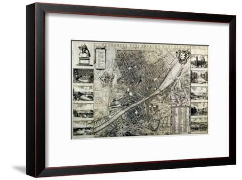 Map of the City of Florence-Wenceslaus Hollar-Framed Art Print