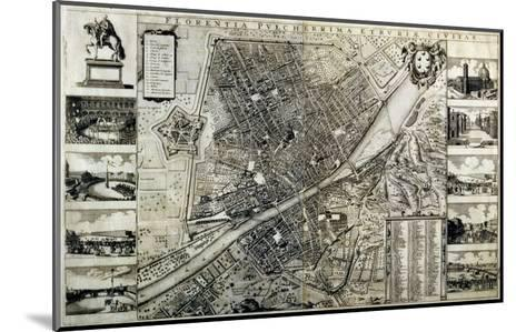 Map of the City of Florence-Wenceslaus Hollar-Mounted Giclee Print