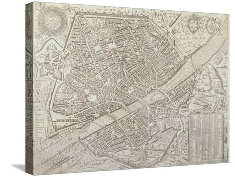 Map of Florence, 1595-Matteo Florimi-Stretched Canvas Print