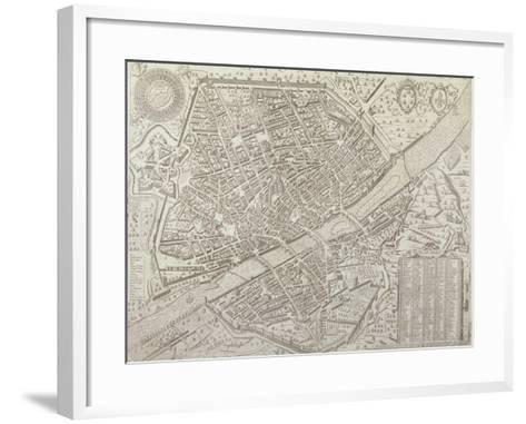 Map of Florence, 1595-Matteo Florimi-Framed Art Print