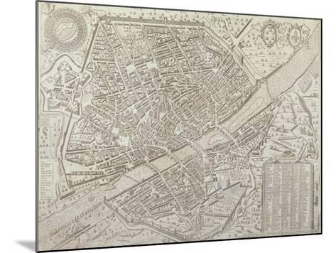 Map of Florence, 1595-Matteo Florimi-Mounted Giclee Print