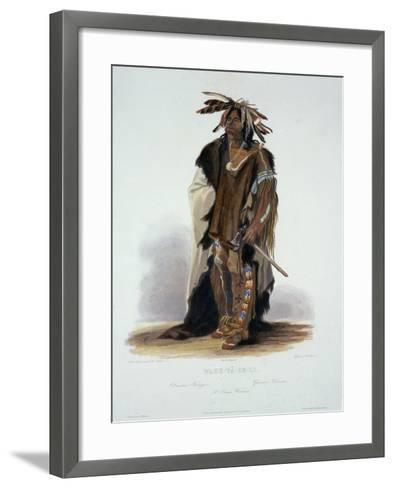 "Wahk-Ta-Ge-Li, a Sioux Warrior, Plate 8 from Volume 2 of ""Travels in the Interior of North America""-Karl Bodmer-Framed Art Print"
