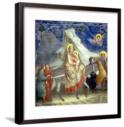 The Flight into Egypt, circa 1305-Giotto di Bondone-Framed Art Print