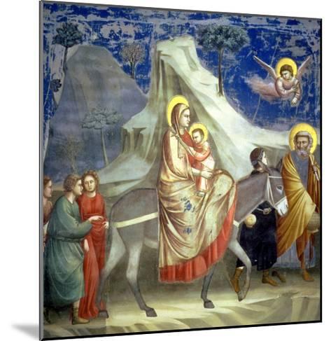 The Flight into Egypt, circa 1305-Giotto di Bondone-Mounted Giclee Print