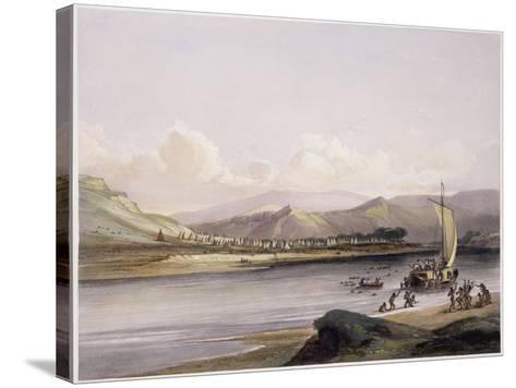 Camp of the Gros Ventres of the Prairies on the Upper Missouri-Karl Bodmer-Stretched Canvas Print