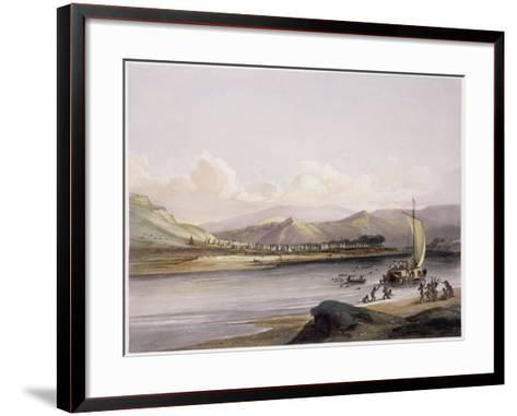 Camp of the Gros Ventres of the Prairies on the Upper Missouri-Karl Bodmer-Framed Art Print