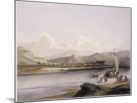 Camp of the Gros Ventres of the Prairies on the Upper Missouri-Karl Bodmer-Mounted Giclee Print