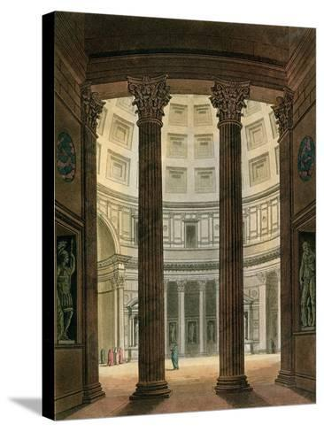 """Interior of the Pantheon, Rome, from """"Le Costume Ancien Et Moderne""""- Fumagalli-Stretched Canvas Print"""