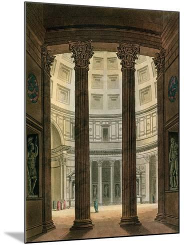 """Interior of the Pantheon, Rome, from """"Le Costume Ancien Et Moderne""""- Fumagalli-Mounted Giclee Print"""