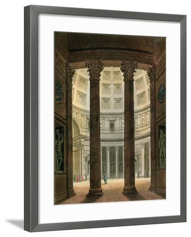 """Interior of the Pantheon, Rome, from """"Le Costume Ancien Et Moderne""""- Fumagalli-Framed Art Print"""