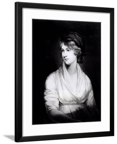 Portrait of Mary Wollstonecraft Godwin Author of a Vindication of the Rights of Woman-John Opie-Framed Art Print