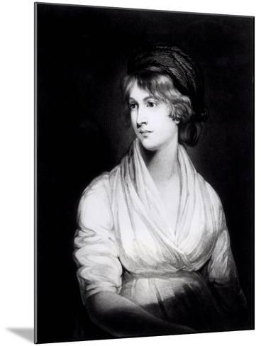 Portrait of Mary Wollstonecraft Godwin Author of a Vindication of the Rights of Woman-John Opie-Mounted Giclee Print