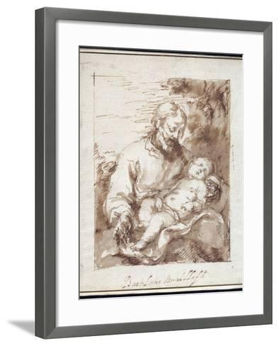 St. Joseph with the Sleeping Christ Child-Bartolome Esteban Murillo-Framed Art Print