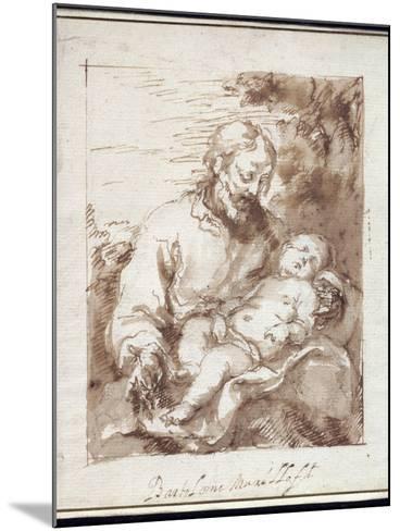 St. Joseph with the Sleeping Christ Child-Bartolome Esteban Murillo-Mounted Giclee Print