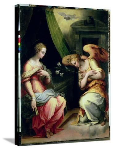 The Annunciation-Giorgio Vasari-Stretched Canvas Print