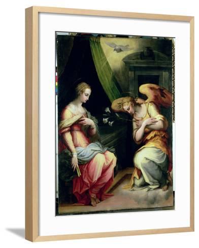 The Annunciation-Giorgio Vasari-Framed Art Print